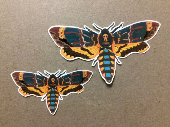 Deaths head hawk moth sticker one vinyl by offthebonestickers