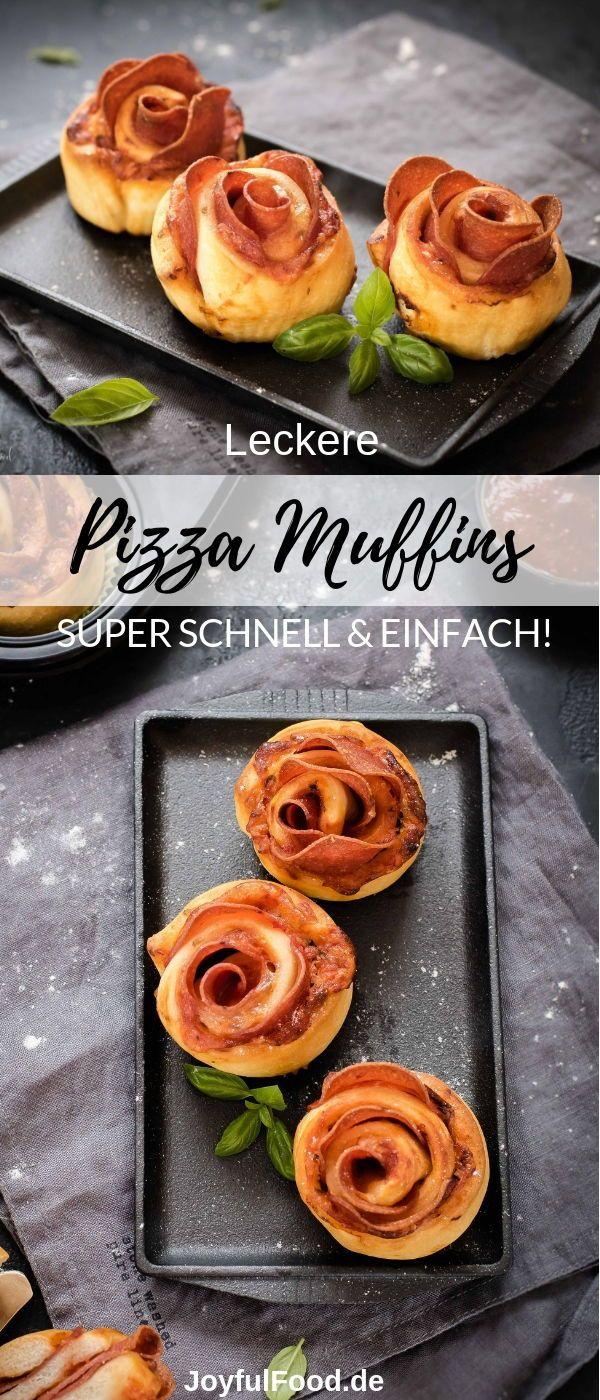 Pizza Schnecken Muffins - schnell, einfach, lecker #buffet