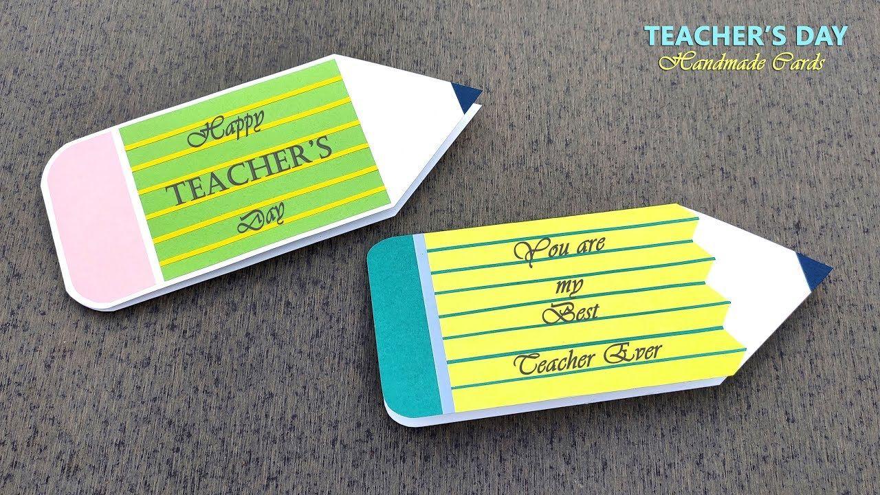 Diy Teacher's Day Card - Handmade Teachers Day Card Making Idea #teachersdaycard
