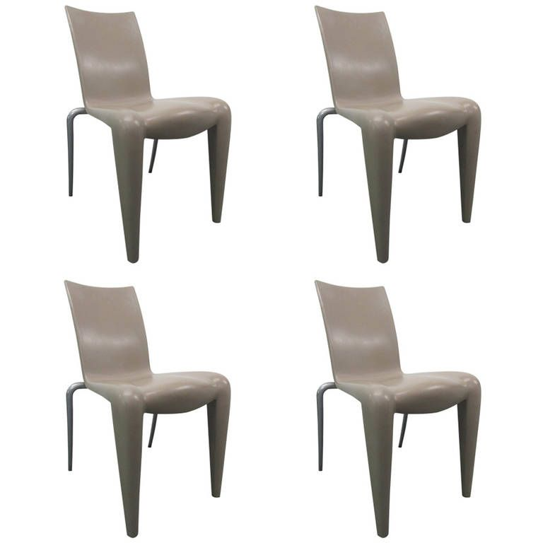 Set Of Four Rare Louis 20 Chairs By Philippe Starck For Vitra Modern Dining Room