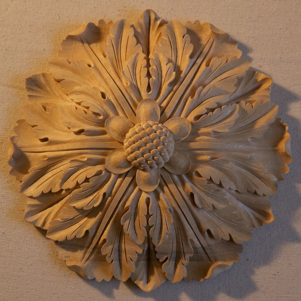 Wood rosettes decorative ornamentation agrell