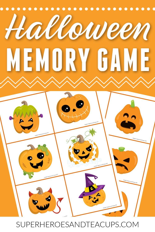 Halloween Memory Game Free Printable Memory games