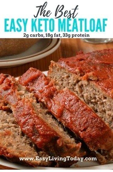 Easy Keto Meatloaf Bursting With Flavor Low Carb Recipes Meatloaf Recipes Low Carb Meatloaf