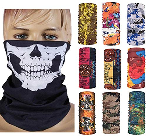12 in 1 Multifunctional Magic Scarf Outdoor Headwear Bandana Sports Tube UV Face Mask for Workout Yoga Running
