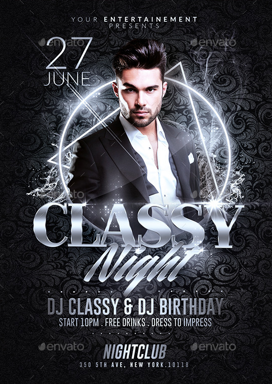 Classy Night Party | Psd Flyer Templates by RomeCreation on ...