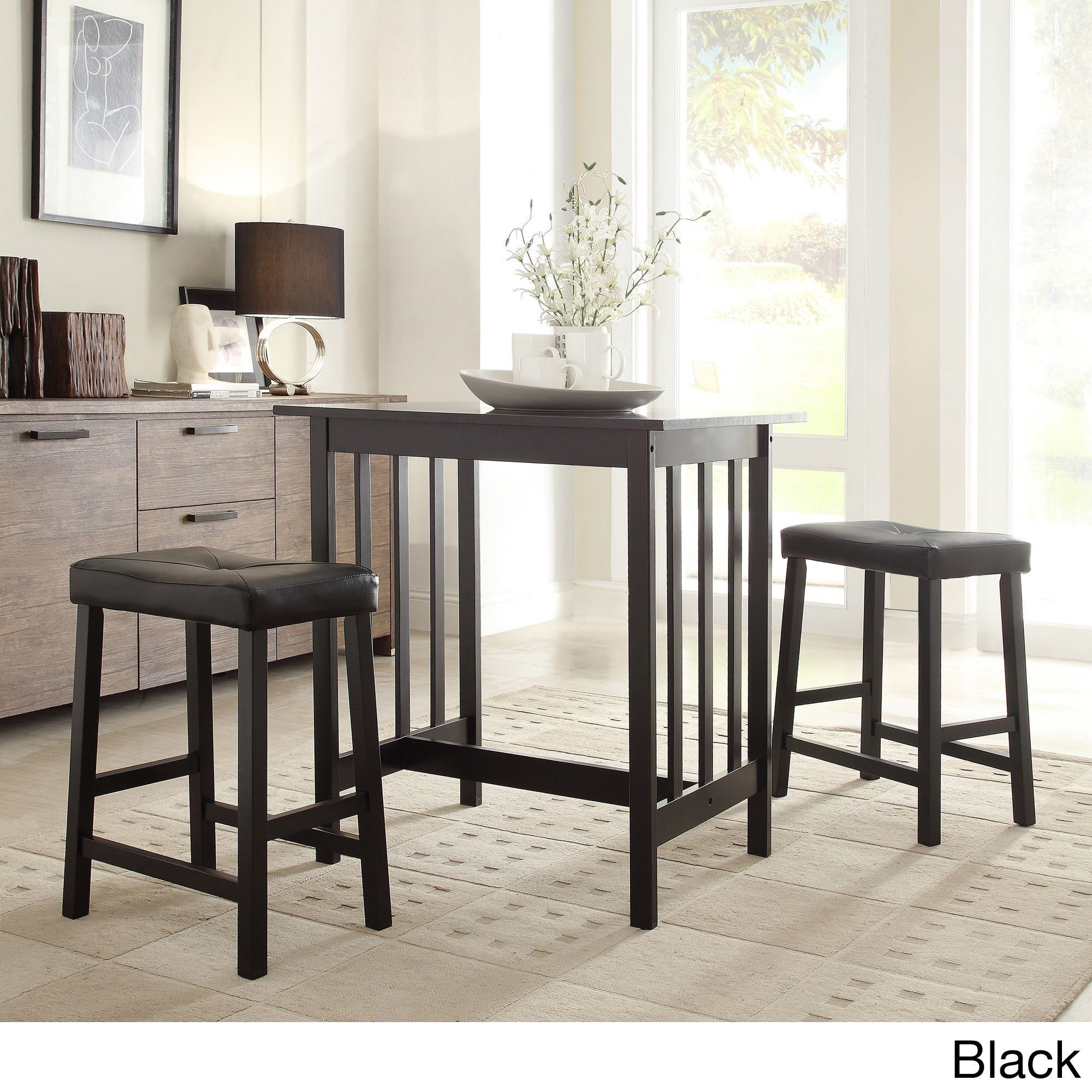 Tribecca Home Nova 3 Piece Kitchen Counter Height Dinette Set  23e1cc5106ca3e371caecf4f05bfbbee 551268810622366112. Three Piece Kitchen  Sets