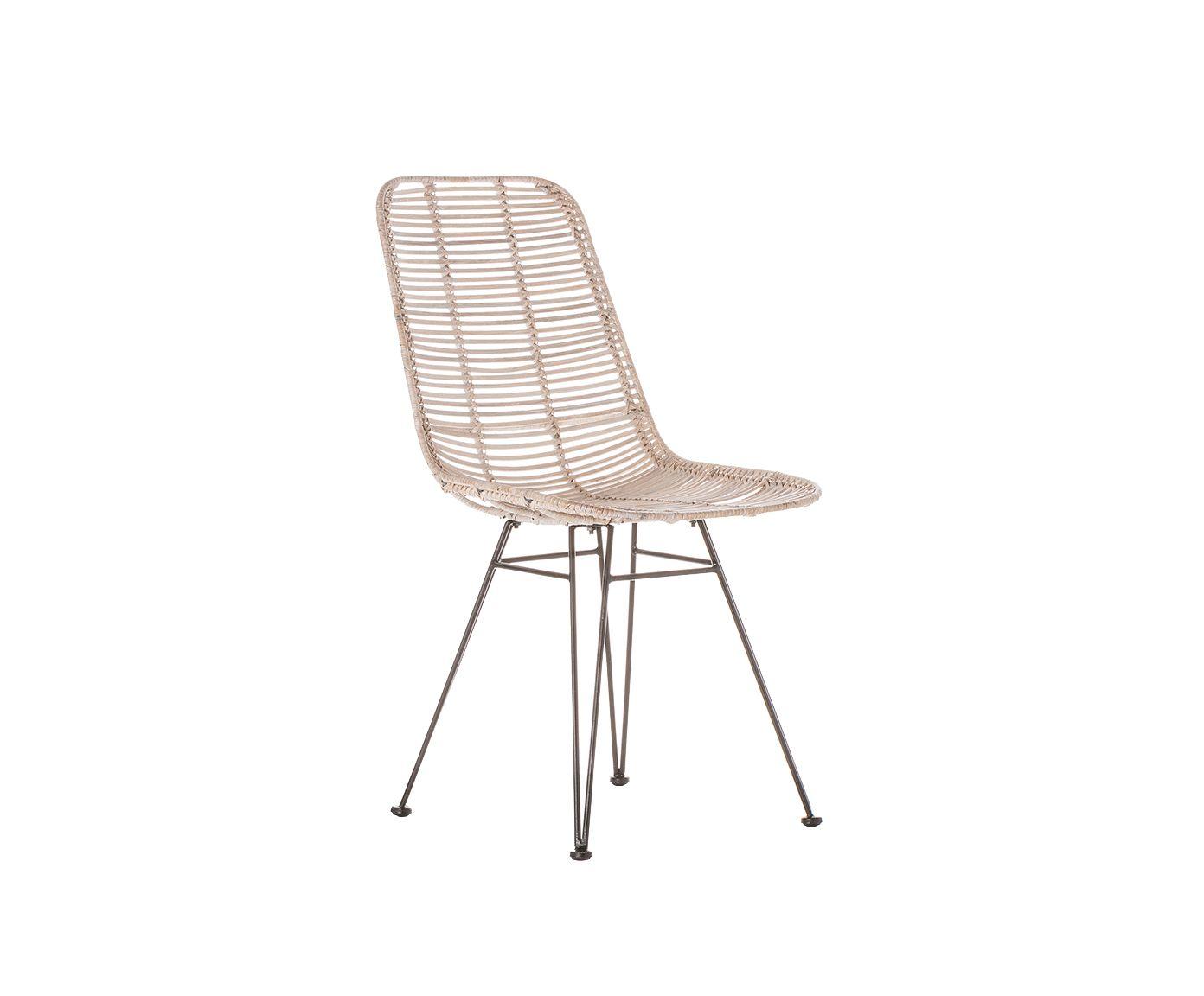 Amüsant Esszimmerstühle Metall Das Beste Von Stuhl Virginia - Rattan/metall Westwingnow | Westwingnow