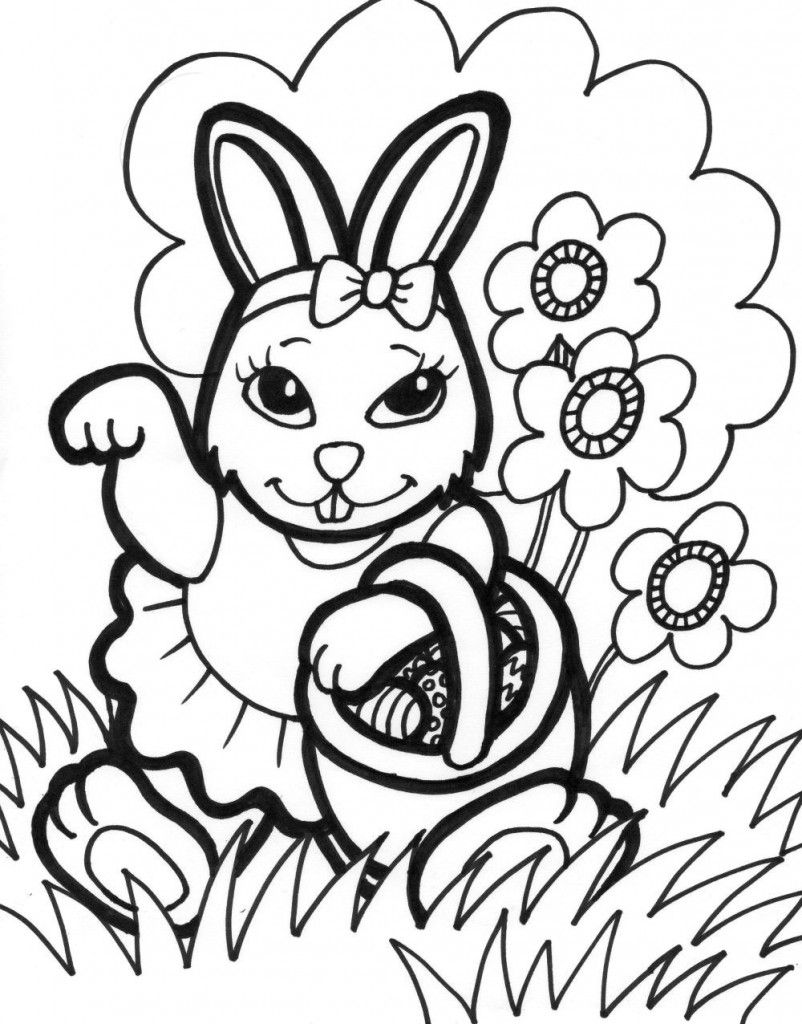 Free Printable Easter Bunny Coloring Pages For Kids | Bunny ...