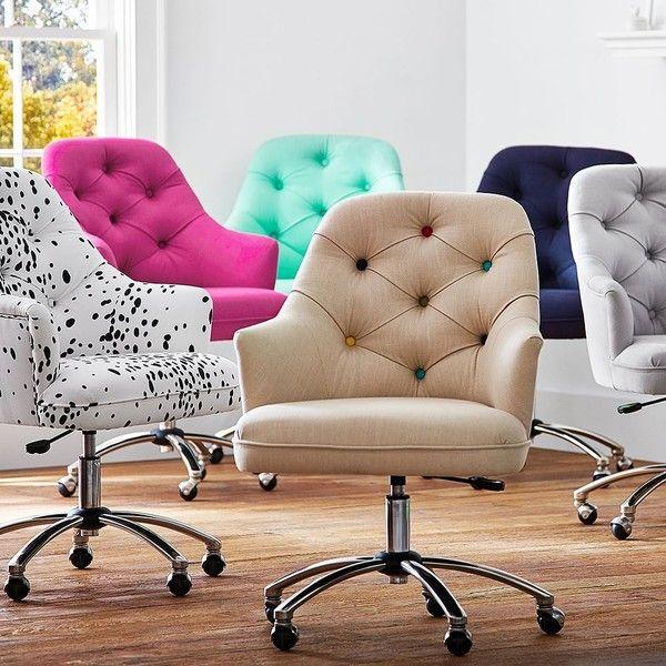 PB Teen Tufted Desk Chair, Navy At Pottery Barn Teen   Teen Chairs  .