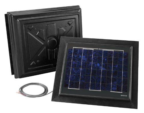 Broan 355rsobk Remote Mount Solar Powered Attic Ventilator Black To View Further For This Item Visit The Image Link Roof Vents Home Attic