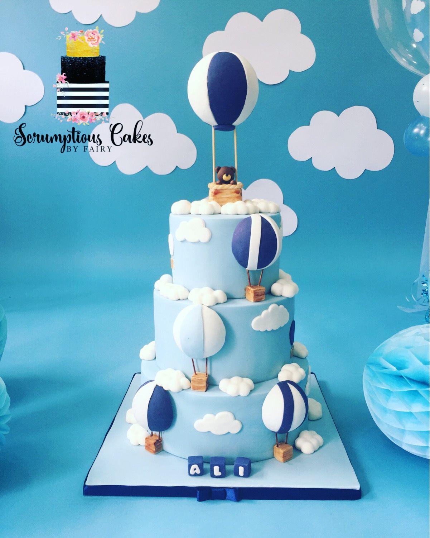 Hot Air Balloon First Birthday Cake Balloon Birthday Cakes Boys