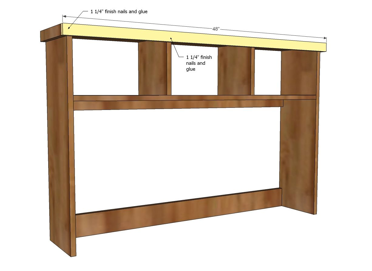 Ana White  Build a Schoolhouse Desk Hutch  Free and Easy