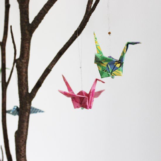 One Of The Decorative Pieces That I Have In My Living Room Is This Branch With Small Hanging Origami Birds Although Very Simple Everyone Who Comes To