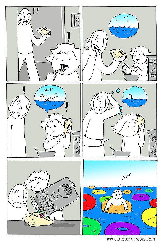 Karikatürist Lunarbaboonun Enteresan Bakış Açısının Ürünü 18 Eğlenceli Çizim