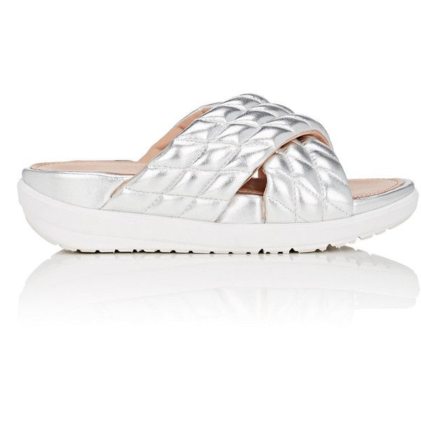 FITFLOP LIMITED EDITION Quilted Metallic Leather Slide Sandals deals cheap online outlet free shipping authentic UC9NEdZ
