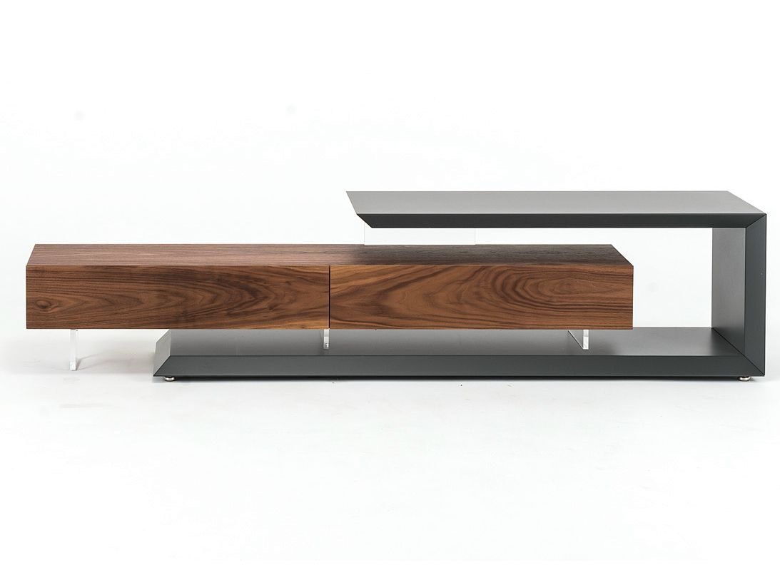 low walnut tv cabinet link by cattelan italia design paolo. Black Bedroom Furniture Sets. Home Design Ideas