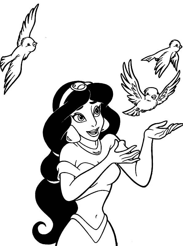 PRINCESS JASMINE FROM ALLADIN FOR YOU TO PRINT AND COLOR IN This is - new disney coloring pages free to print
