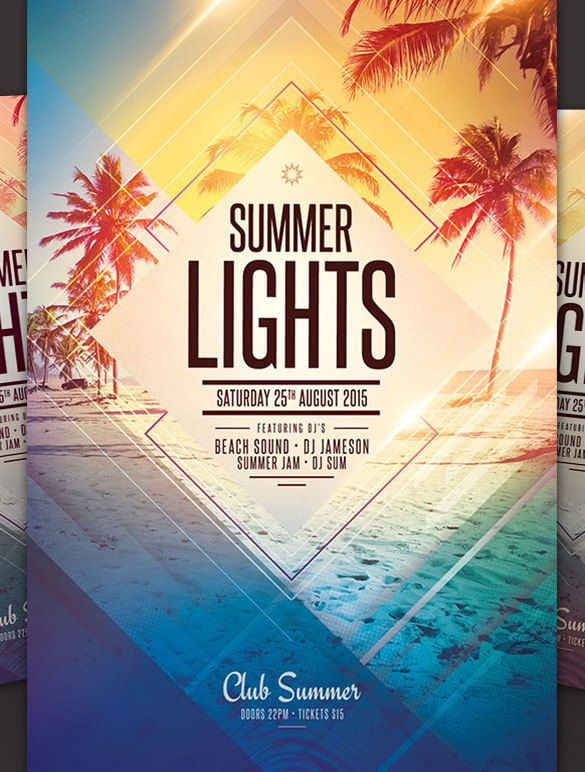 Beach Flyer Template Free 20 Amazing Psd Beach Party Flyer Templates