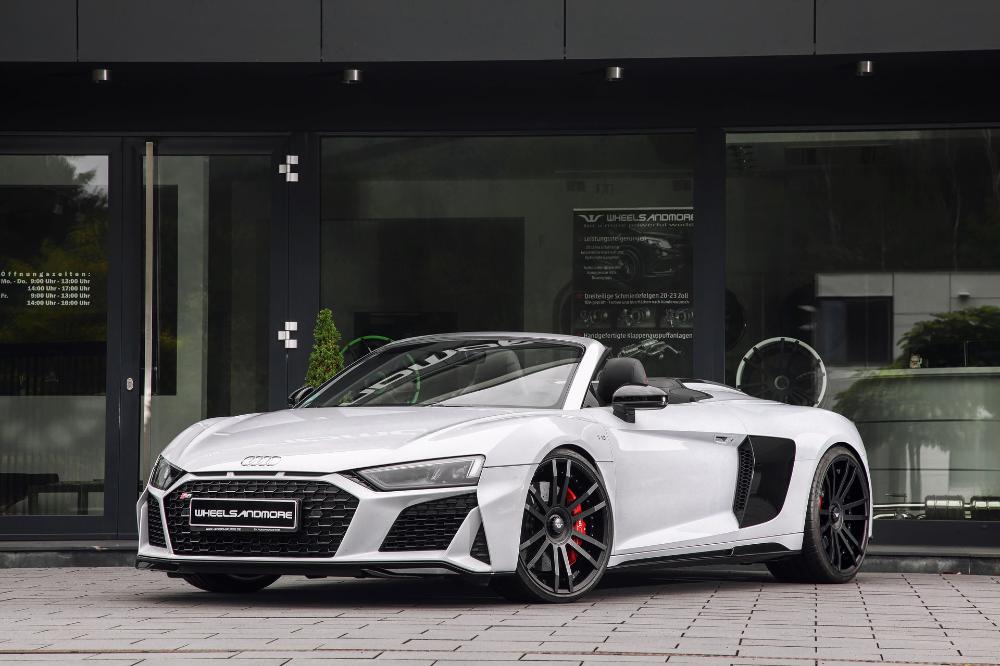 Audi R8 V10 Plus Spyder Pumped Up To 1 035 Hp For Over 100 000 Carscoops In 2020 Audi R8 Spyder Audi Audi R8