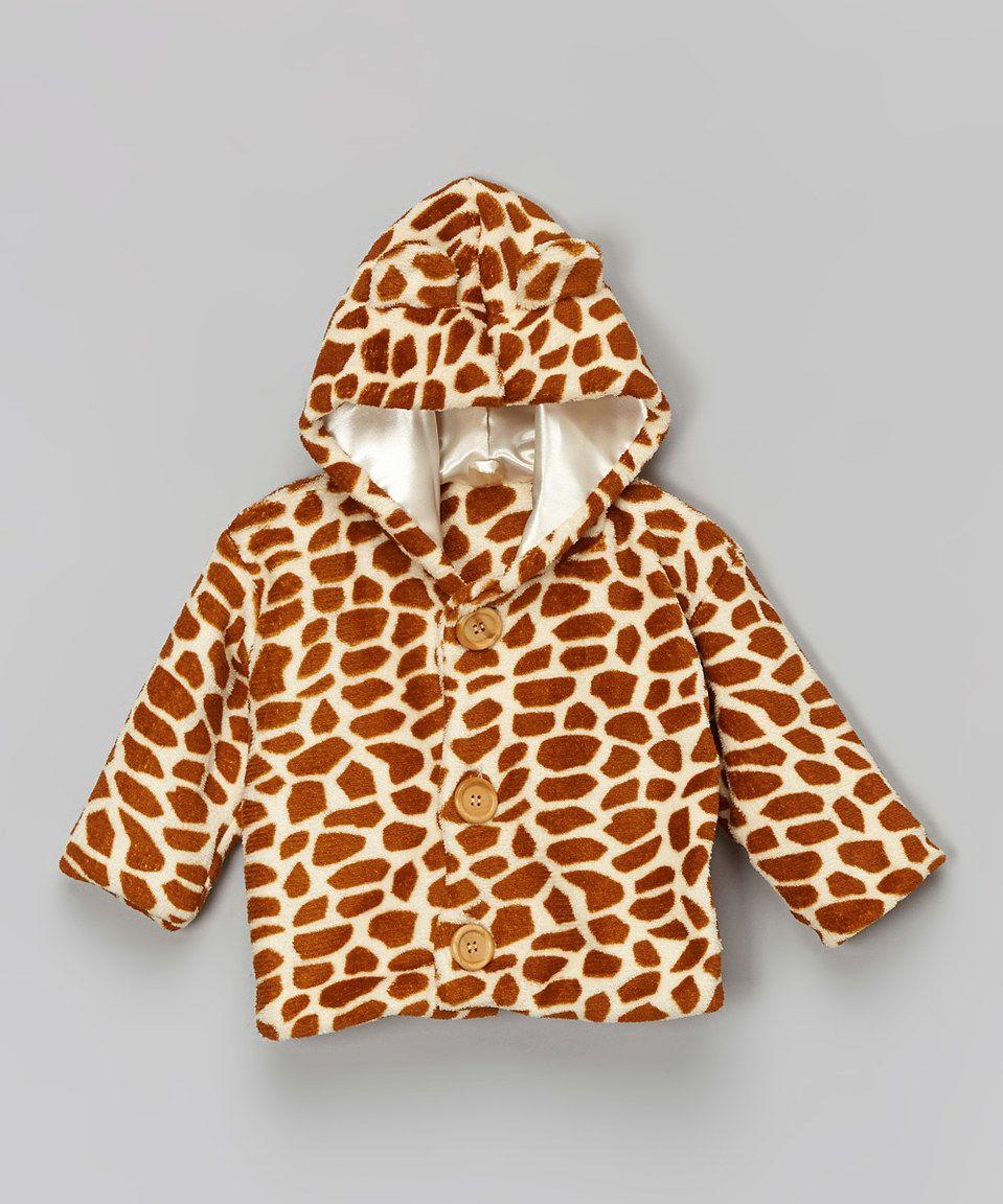 Look what I found on #zulily! Brown Giraffe Hoodie - Infant & Toddler by cachcach #zulilyfinds