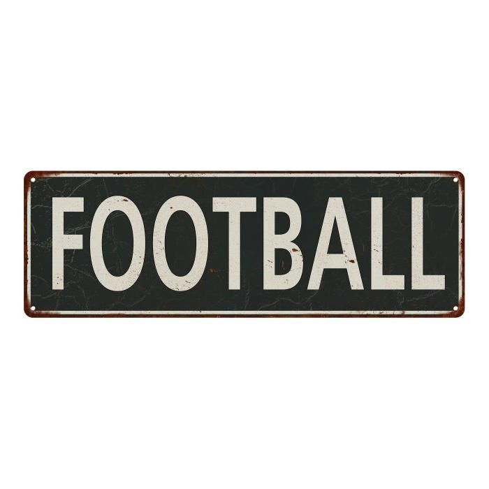 Football Vintage Look Shabby Chic Gift Metal Sign 6x18 106180062029