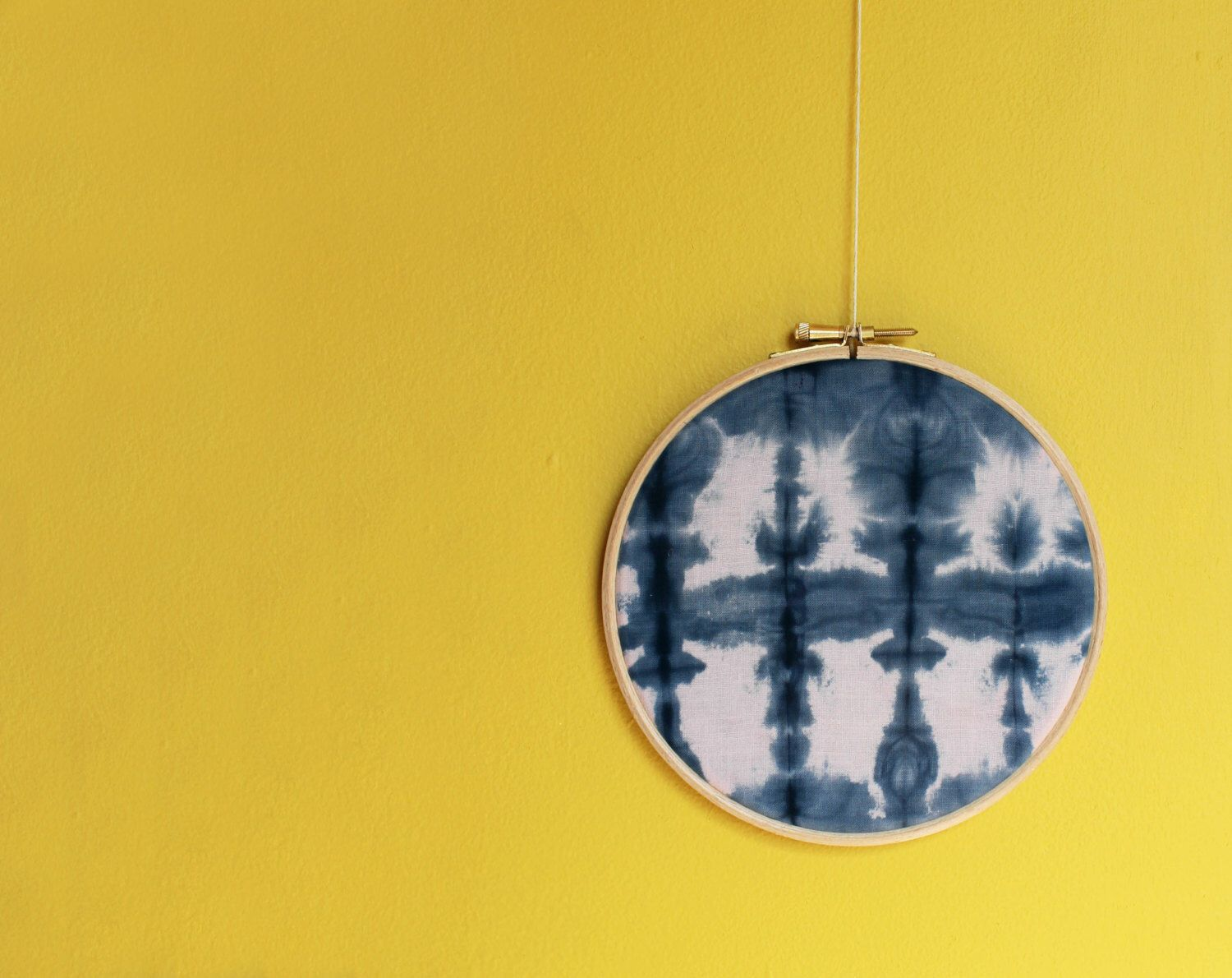 Indigo Shibori Tie Dye Embroidery Hoop Wall Art by DrawforToffee on ...