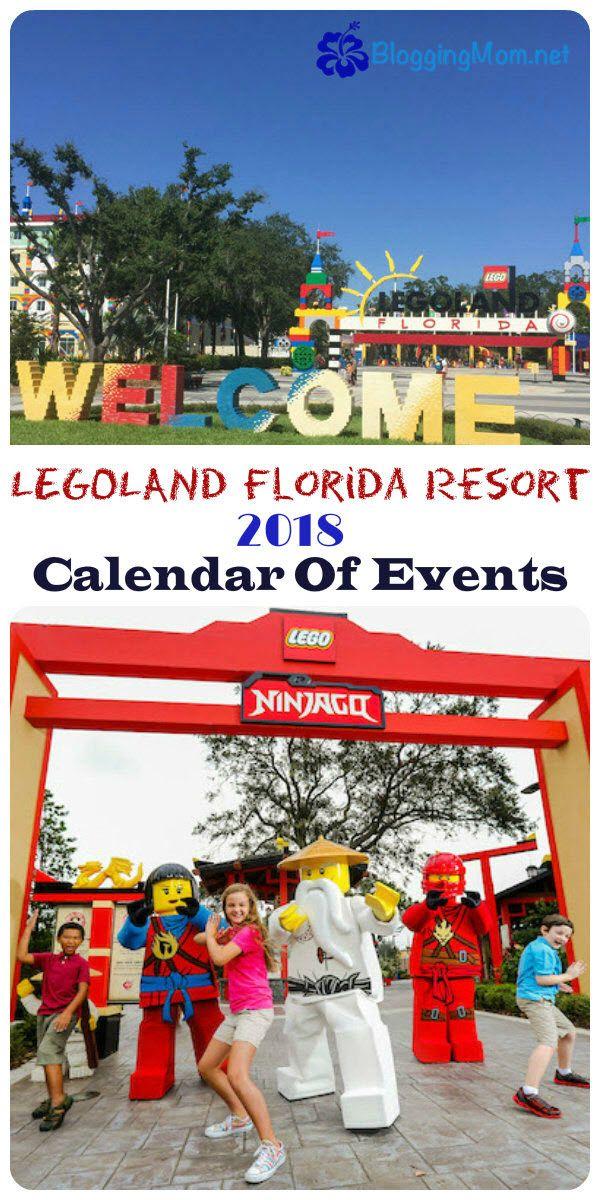 LEGOLAND Florida Resort 2018 Calendar Of Events | Legoland florida