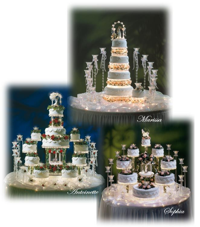 wedding cake lights wedding cakes with fountains wedding cakes with 8689