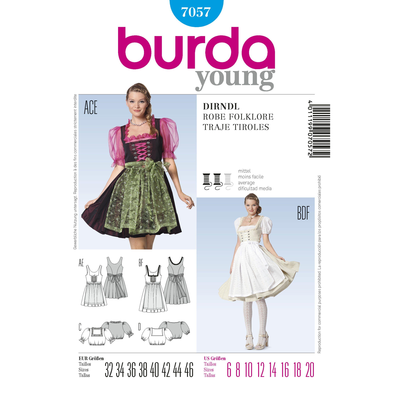 BURDA sewing pattern 6268 Robes 34-44