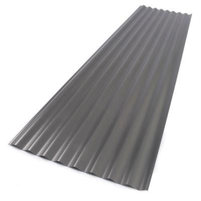Suntop 26 In X 12 Ft Foamed Polycarbonate Corrugated Roof Panel In Castle Grey 108975 The Home Depot Roof Panels Polycarbonate Roof Panels Corrugated Roofing