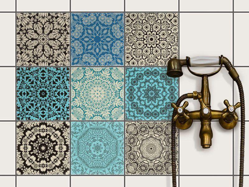 Fliesendekor Badezimmer ~ Marokkanische fliesenaufkleber orientalisches design