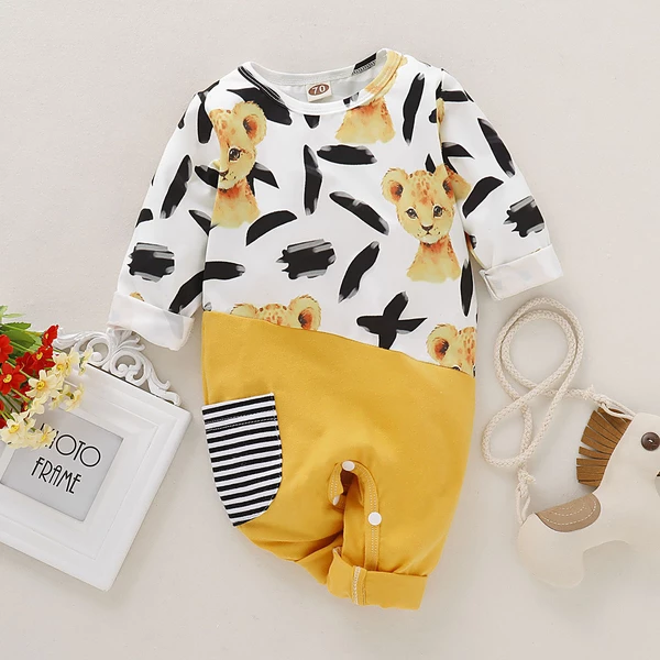 Baby Boy Girl Long Sleeve Jumpsuit Dog Cat Adopt Love Infant Long Sleeve Romper Jumpsuit