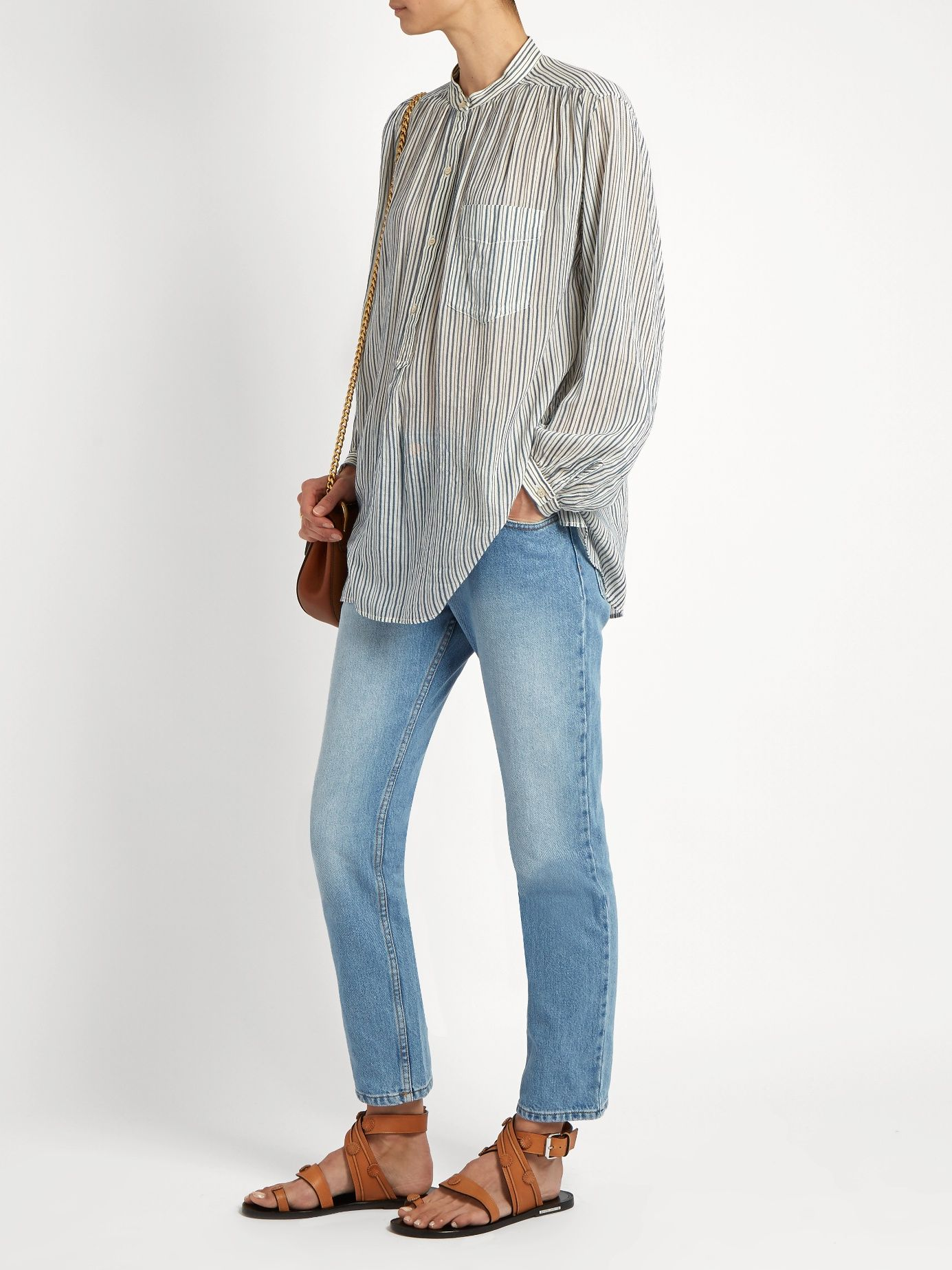f5a834fea53f Click here to buy Isabel Marant Étoile Cliff high-rise straight-leg jeans at