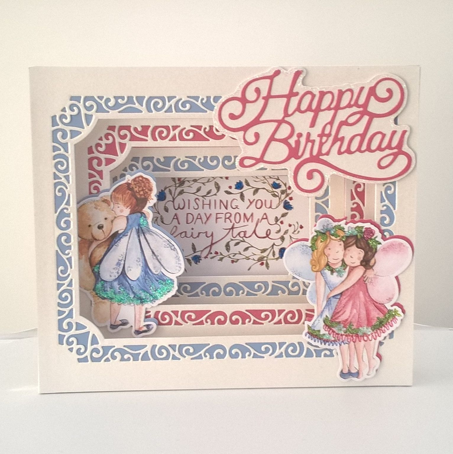 Shadow Box Birthday Card Made Using Tonic Studios Dies And Fairies Creative Cards Card Making Birthday Card Creator