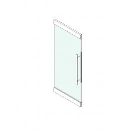 Curtain wall door Revit block | 3D Door CAD models