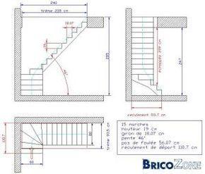 comment dessiner un escalier 1 4 tournant acabados de la. Black Bedroom Furniture Sets. Home Design Ideas