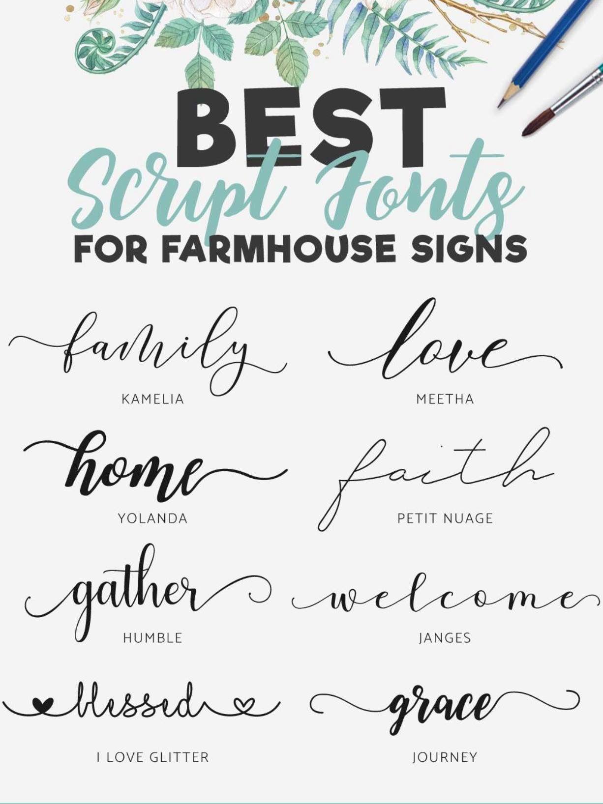 Fonts For Farmhouse Signs Cricut Fonts Lettering Sign Fonts