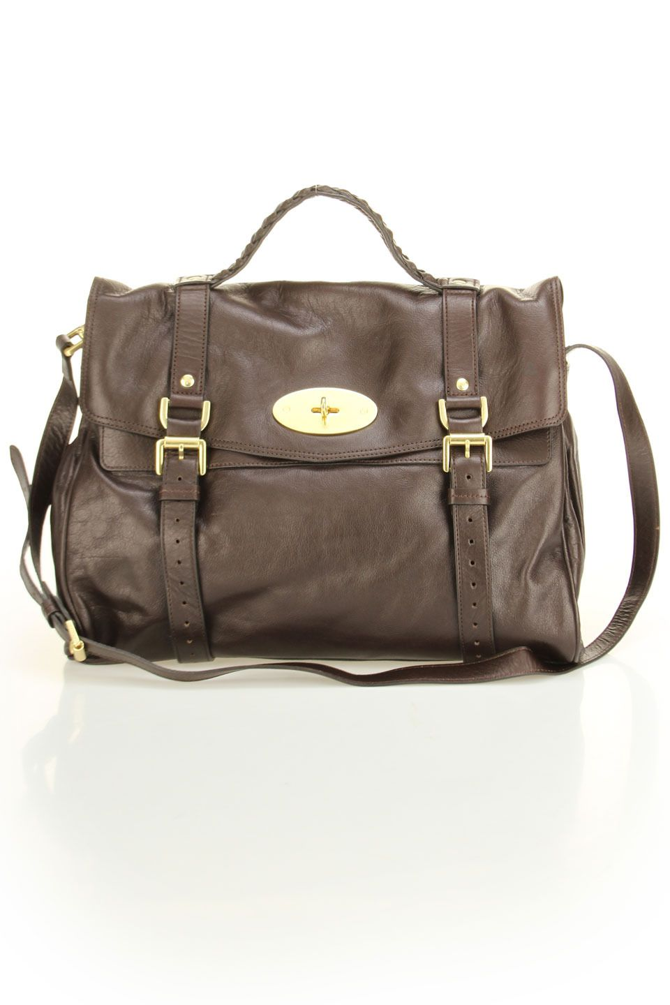 2d24323a2dd Mulberry Oversized Alexa Soft Buffalo Shoulder Bag In Chocolate ...