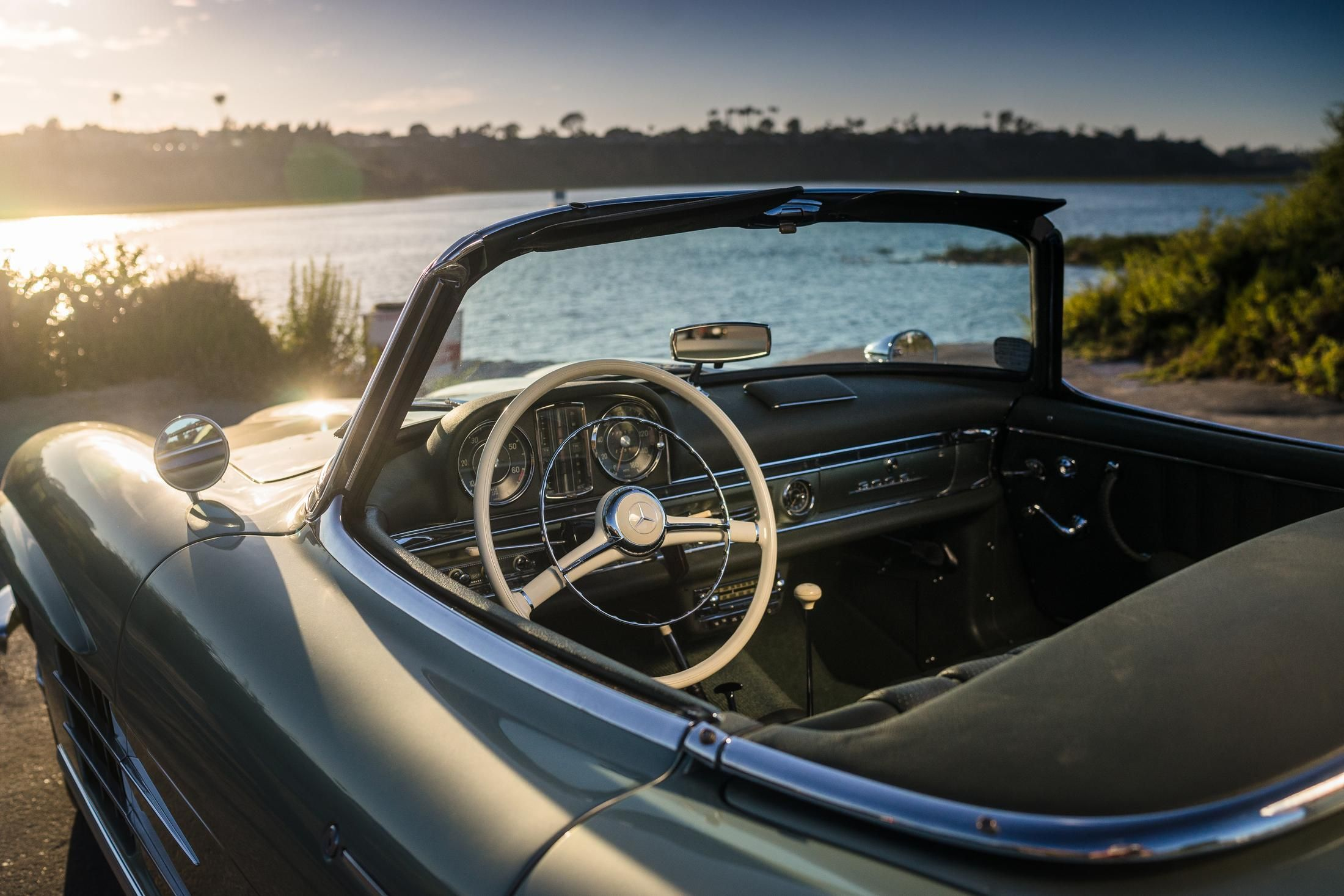 This timeless mercedesbenz roadster could be yours green coat
