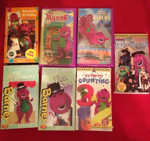Barney Classic Collection VHS Movie Lot Barneys Birthday