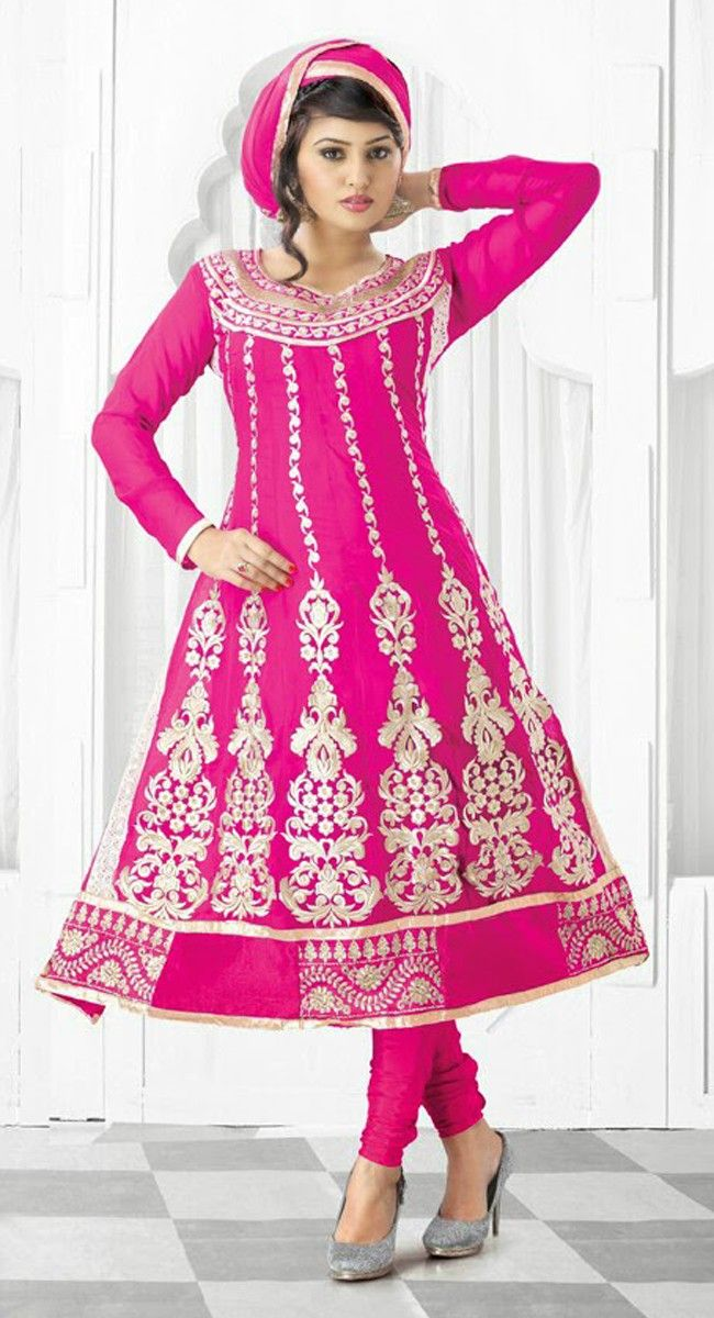 Elegant Pink Color Faux Georgette #Salwar Kameez | Online ...