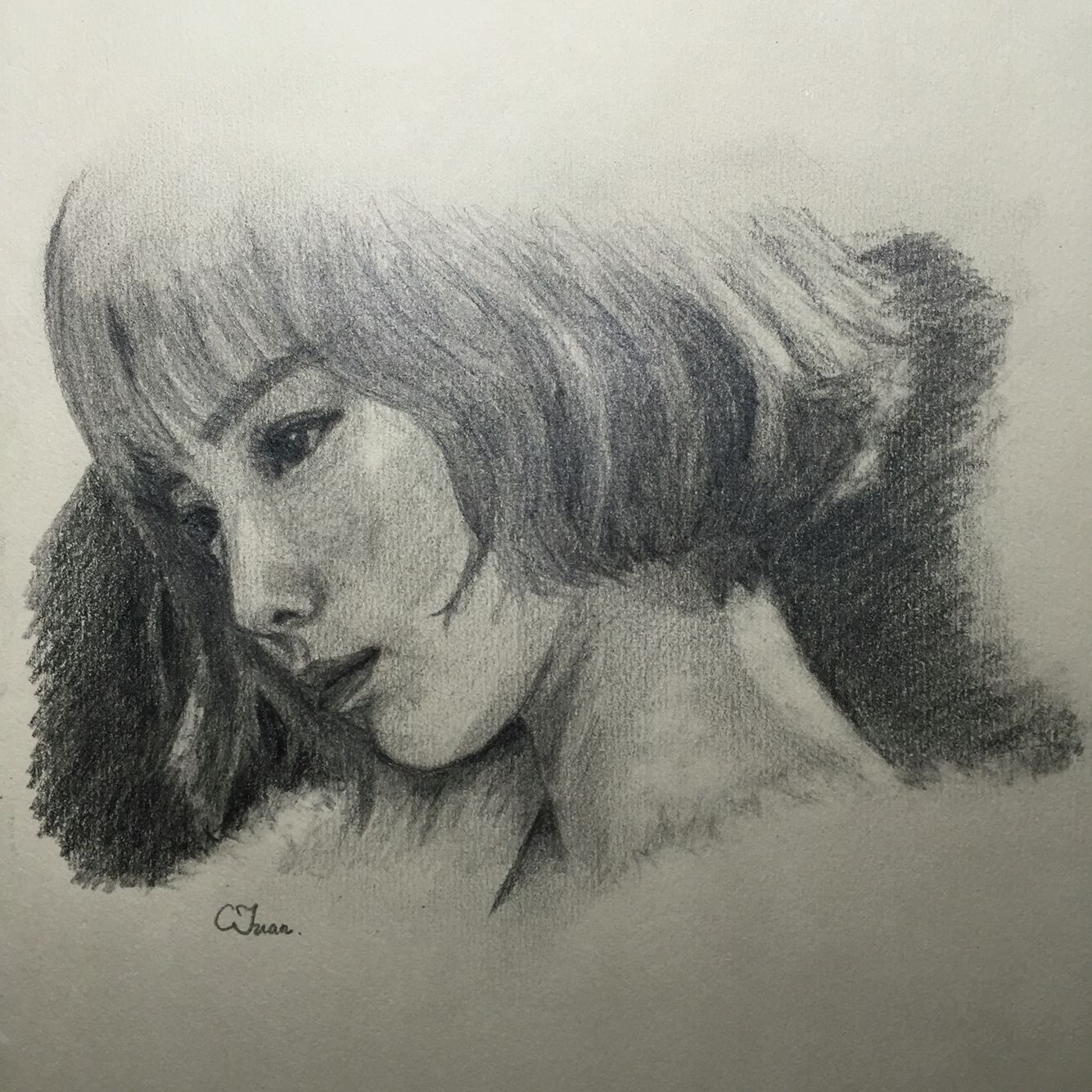 Taeyeon Fanart Drawing Of People Pinterest Fanart