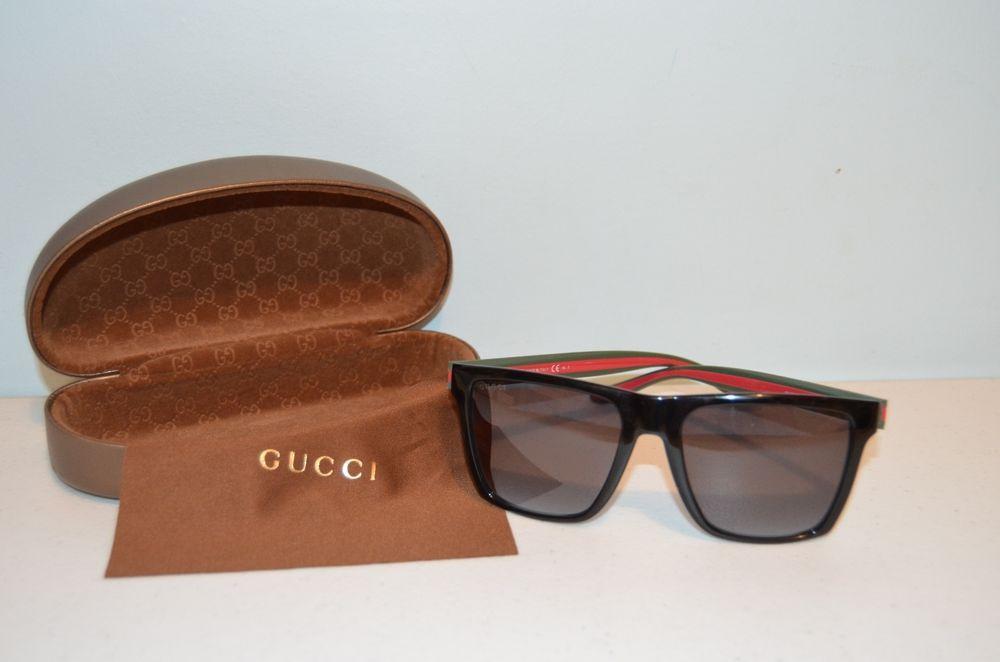f62f07ff363 GUCCI GG 3535 S 51NPT Black Framed Gucci Logo Unisex Sunglasses-Brand New