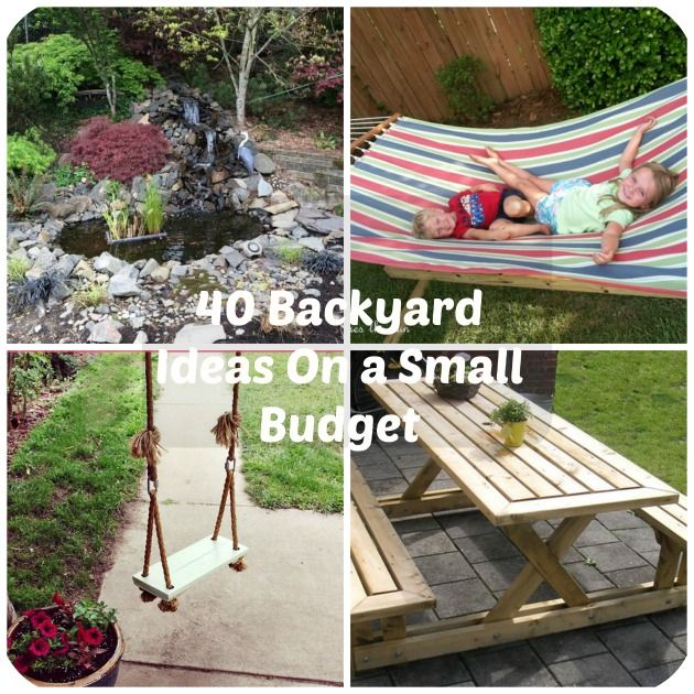 40 DIY Backyard Ideas On A Small Budget