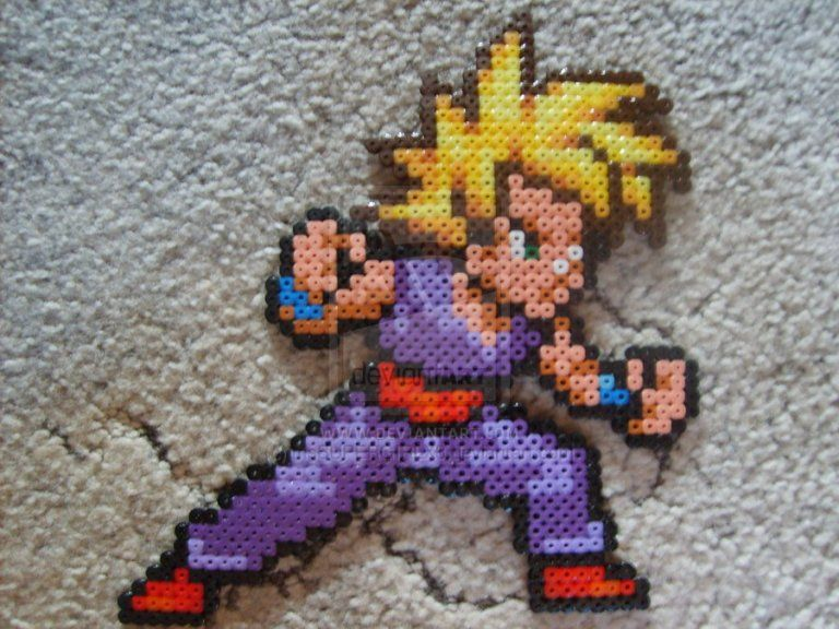 Hama Beads Dragon Ball Gohan Hama Art Hama Beads Pixel Art