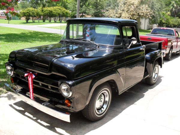 1957 Ford F100 Short Bed Stepside With Images Old Ford Trucks Old Fords