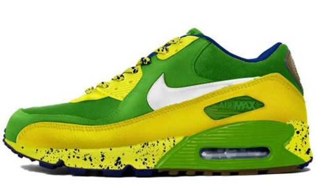 Here is new picture of the Air Max 90 Quicksrike from the Nike Running Man  Pack. The kicks come in a neon green 7c870fff46