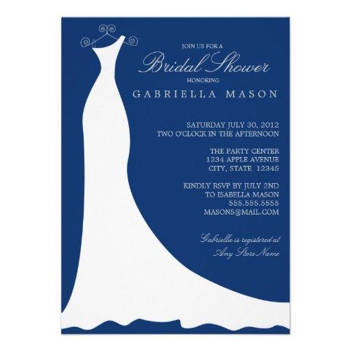 4.5 x 6.25 Sodalite Blue   Bridal Shower Invite