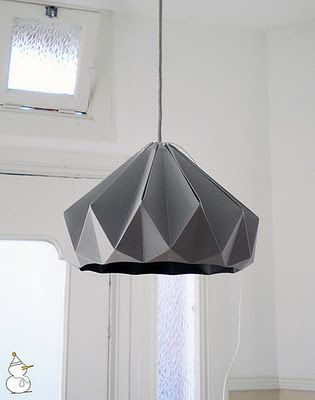 Origami lamp shade via all things paper library crafts origami lamp shade via all things paper aloadofball Images