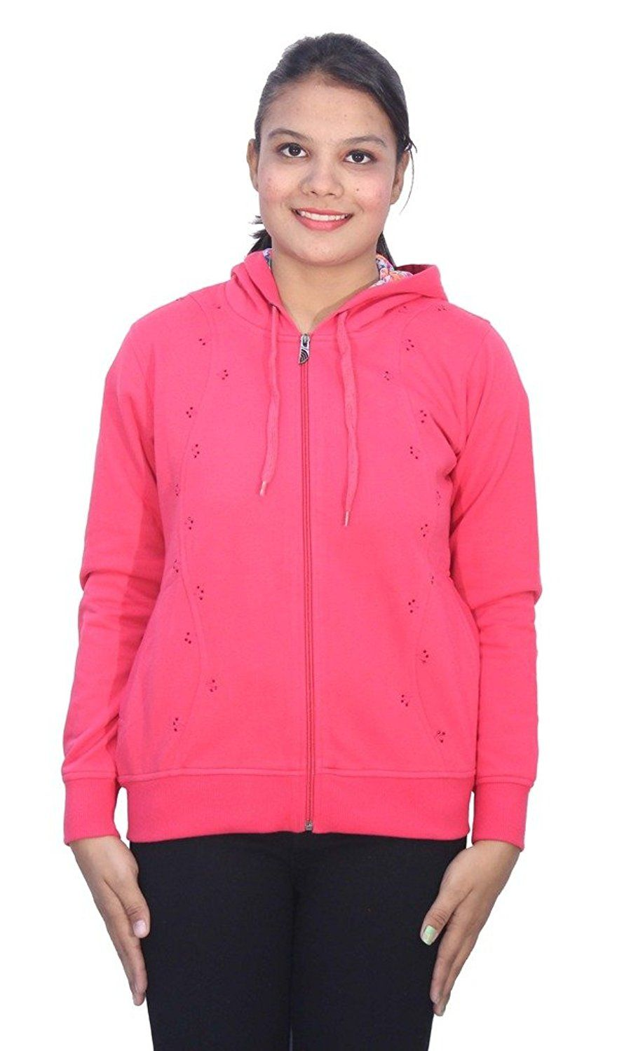 Romano Women's Hot and Trendy Pink Winter Hoodie Sweatshirt Fleece Jacket ** Special offer just for you. See it now! : Women's Fashion for FREE